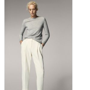 Massimo Dutti crop pleated trousers